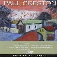 poster for Paul Creston - Symphony No. 4 - Violin Concerto